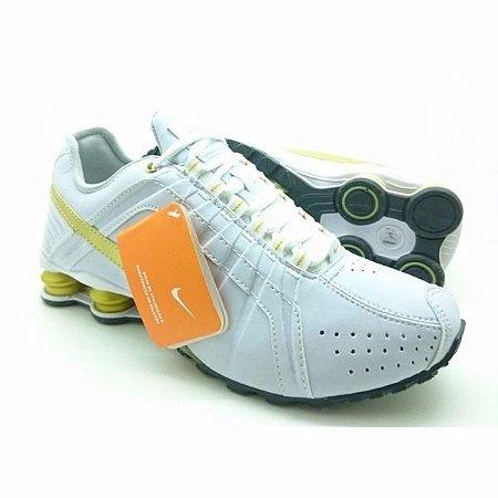 b6fa9fe078 ... low price tênis nike shox junior branco e dourado e8c15 cb9db