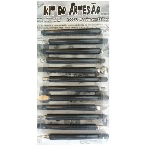 kit do artesão ferramenta para modelagem de masas em geral 12 peças.
