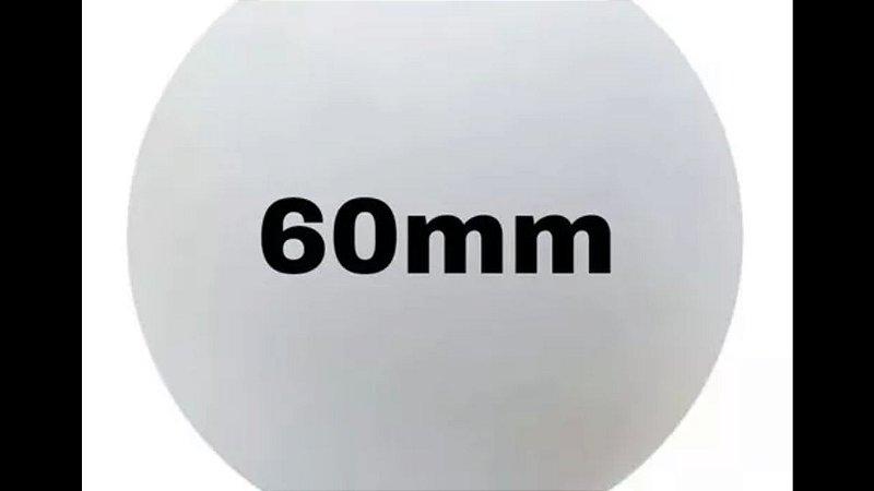 Bola de isopor 60 mm c/30 unds.