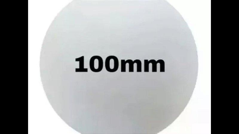 10 unds Bola de Isopor tam 100 mm