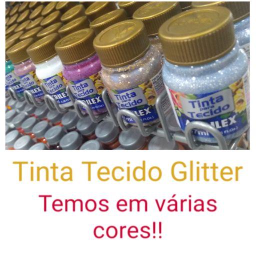 Tinta Para Tecido Glitter