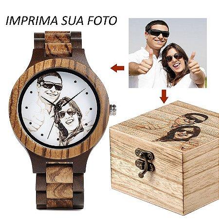 Relógio de Madeira Personalizado