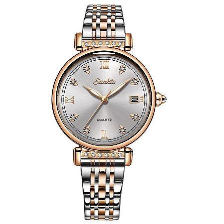 Relógio Feminino Super Luxo Sunkta
