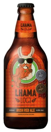 CERVEJA LHAMA LOCA IRISH RED ALE 600ml