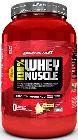100% WHEY MUSCLE  BODYACTION 900g
