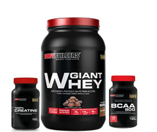 Combo Giant Whey 900g Bodybuilders