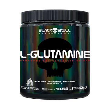 L-Glutamina 300g Black Skull
