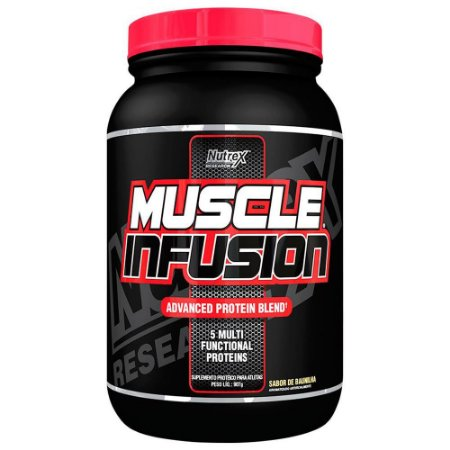 Whey Protein Muscle Infusion Nutrex Baunilha validade 12/19
