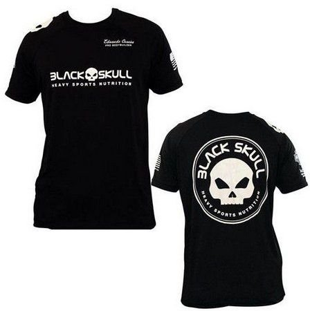 Camiseta 100% Algodão Eduardo Correa Black Skull