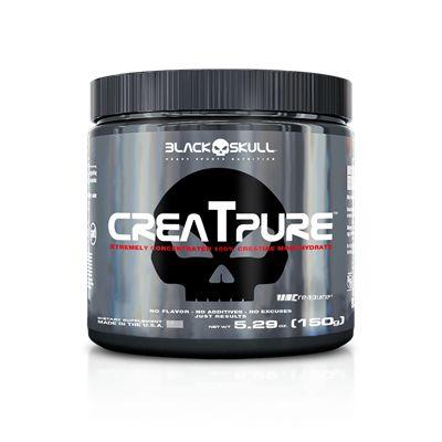 Creatpure 150g Black Skull - Creatina Creapure