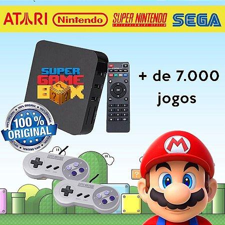 Super Game Box 7000 Jogos 2 Controles Super Nintendo, Snes