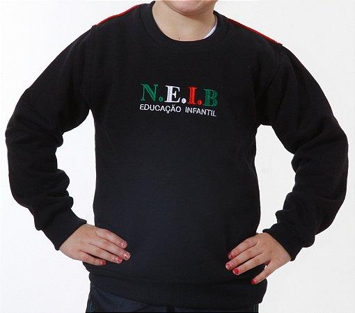 BLUSA MOLETON FECHADO NEIB INFANTIL AZUL MARINHO