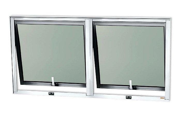 Maxim-Ar 2 Seções em Alumínio Brilhante c/ Vidro Mini Boreal - Brimak Confort