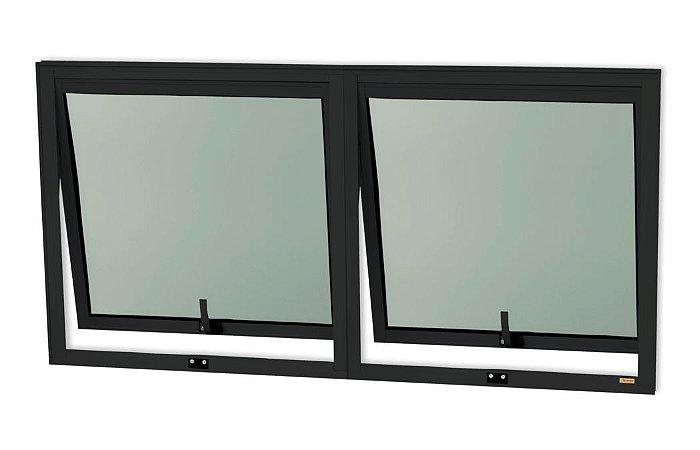 Maxim-Ar 2 Seções em Alumínio Preto c/ Vidro Mini Boreal - Brimak Confort