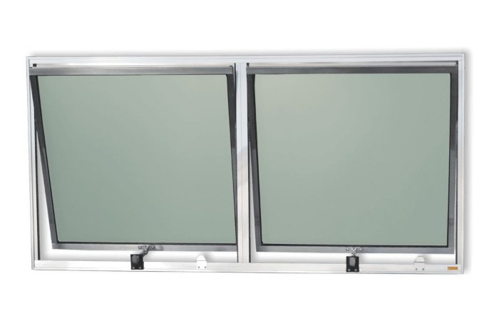 Maxim-Ar 2 Seções em Alumínio Brilhante c/ Vidro Mini Boreal - Brimak Plus