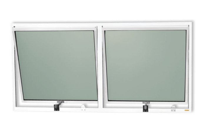 Maxim-Ar 2 Seções em Alumínio Branco c/ Vidro Mini Boreal - Brimak Plus