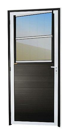 Porta Lambril Social C/ Grade em Alumínio Mix Preto C/ Vdr. Mini Boreal - Brimak Super 25