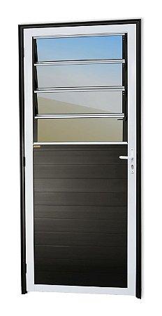 Porta Lambril Basculante em Alumínio Mix Preto C/ Vdr. Mini Boreal - Brimak Super 25