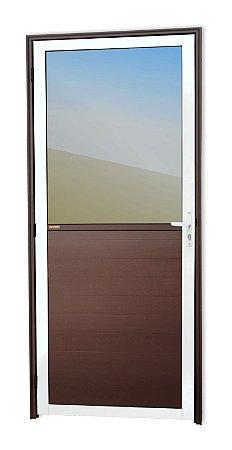 Porta Meia Lambril Meia Vidro em Alumínio Mix Corten C/ Vdr. Mini Boreal - Brimak Super 25