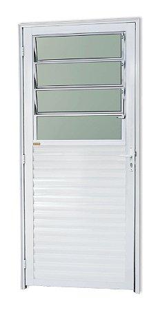 Porta Basculante em Alumínio Branco c/ Vidro Mini Boreal - Brimak Super 25