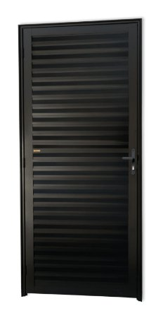 Porta Fechada Palheta em Alumínio Preto - Brimak Super 25