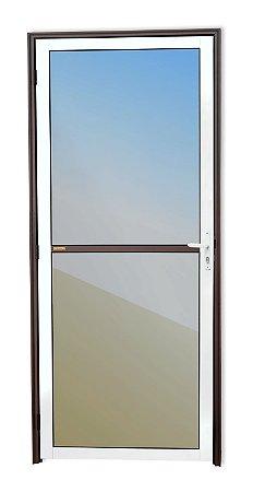 Porta Vidrão em Alumínio Mix Corten c/ Vidro Mini Boreal - Brimak Super 25