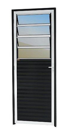 Porta C/ Basculante em Alumínio Mix Preto C/ Vdr. Mini Boreal - BRIMAK L-25
