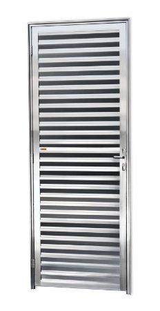 Porta Fechada Palheta em Alumínio Brilhante - Brimak L-25