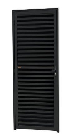 Porta Fechada Palheta em Alumínio Preto - Brimak L-25