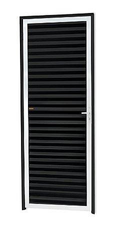 Porta Fechada Palheta em Alumínio Mix Preto - Brimak L-25