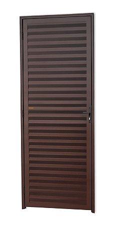 Porta Fechada Palheta em Alumínio Corten - Brimak L-25