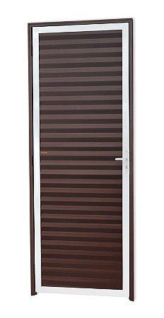Porta Fechada Palheta em Alumínio Mix Corten - Brimak L-25