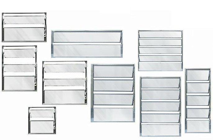 Janela Basculante 1 Sec. Alumínio Brilhante - SPJ Linha 16