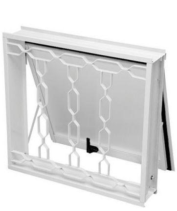 Janela Maxim-Ar em Aço Branco uma Seção com Grade Elo Com Vidro - Requadro 12 cm - Gerotto Ellegance