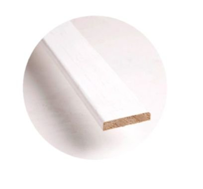 Jogo de Guarnição (Alisar) para Porta de Abrir (Giro) em Madeira Primer Branco 5 cm - Uniportas