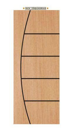 Oferta - Folha de Madeira Semi Oca Frisada Stander Belíssima 2,10 X 0,72 - Rick Esquadrias - 3 Últimas Peças
