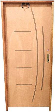 Porta Frisada Stander Dover c/ Batente 11 cm Misto c/ Fechadura Tambor - Rick Esquadrias