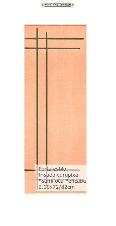 Folha de Porta de Abrir (Giro) Frisada Estilo em Madeira Lisa Semi Oca Encabeçada Curupixá Para Verniz e Pintura  - Rick Esquadrias