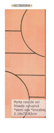 Folha de Porta de Abrir (Giro) Raio de Sol em Madeira Semi Oca Lisa Encabeçada Curupixá Para Verniz e Pintura  - Rick Esquadrias