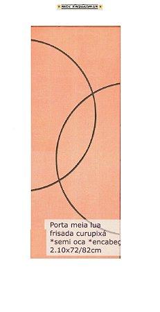 Folha de Porta de Abrir (Giro) Meia Lua em Madeira Semi Oca Lisa Encabeçada Curupixá Para Verniz e Pintura  - Rick Esquadrias