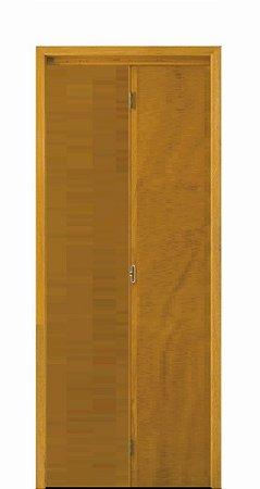Porta Camarão em Madeira Lisa Imbuia Semi Oca com Puxador - Batente de 14 Cm Uniportas