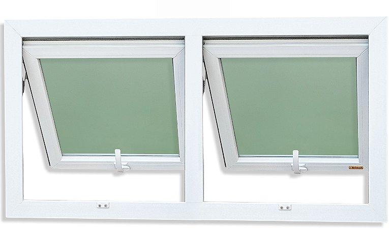 Janela Maxim-ar PVC Branco 2 Seções Vidro Mini Boreal - Brimak iTEC