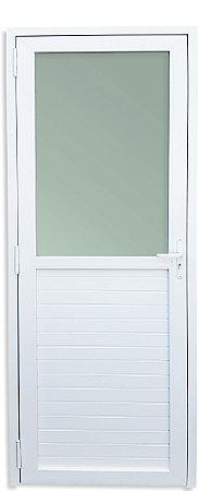 Porta PVC Branco Mista e Vidro Superior Mini Boreal - Brimak iTEC