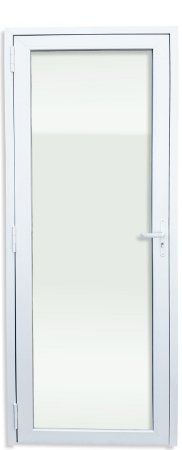 Porta PVC Branco 1 Vidro Temperado - Brimak iTEC