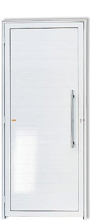 Porta De Abrir (Giro) em Alumínio Branco Lambril Com Puxador Londres  - Linha Super 25 Brimak