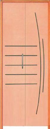Porta Camarão Frisada Dover Curupixá c/ Batente de 14 cm Misto - Rick Esquadrias
