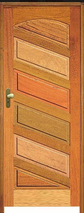 Porta Mexicana Diagonal R-20 Mista Maciça c/ Batente de 11 cm Misto c/ Fechadura Taco de Golf - Rick Esquadrias