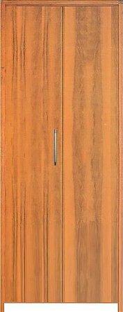 Porta Camarão Lisa Padrão Imbuia c/ Batente de 14 cm Misto - Rick Esquadrias
