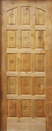 Folha Porta Torneada 15 Almofadas Ecológica - Rick Esquadrias