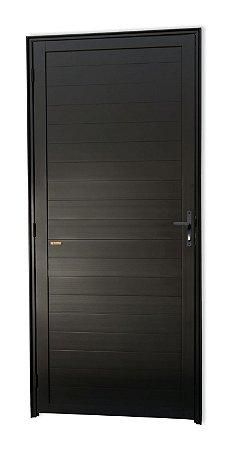 Porta Lambril Fechada em Alumínio Preto S/ Vidro - Brimak Super 25